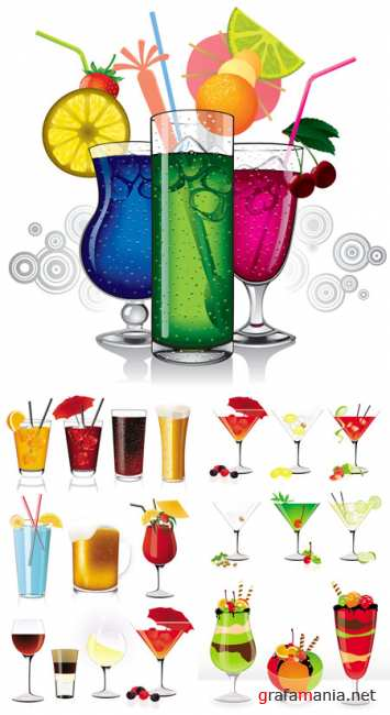 Cocktails - Vector Graphic