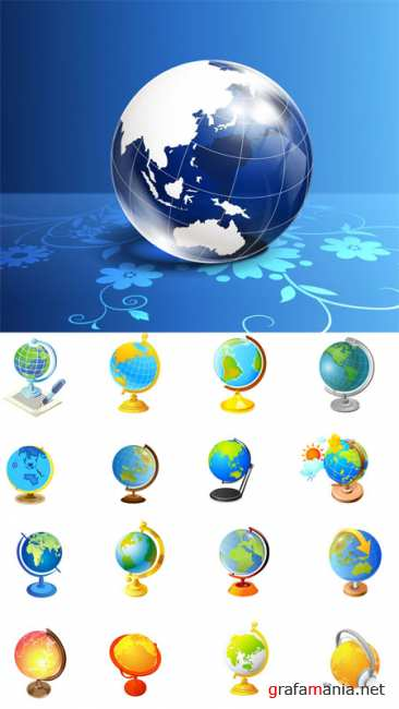 Vector Globes Pack