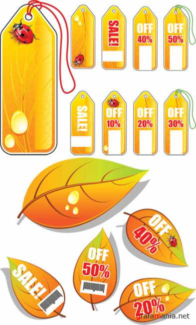 Autumn Sale Tags - Stock Vectors