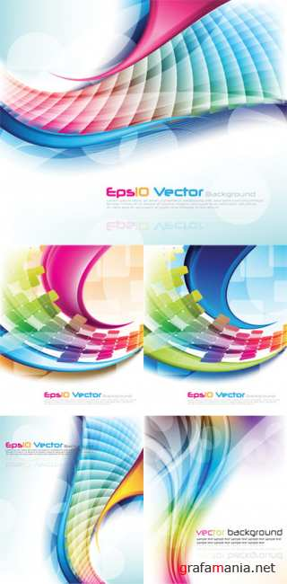 Colorful Abstract Vector Backgrounds 29