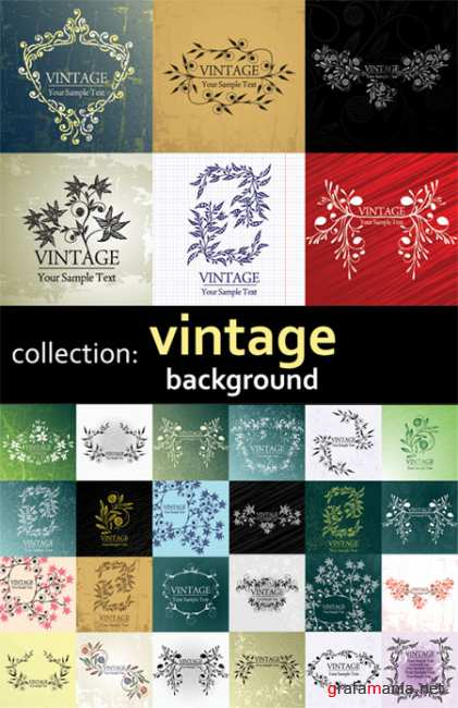 Vintage Vector Backgrounds Collection
