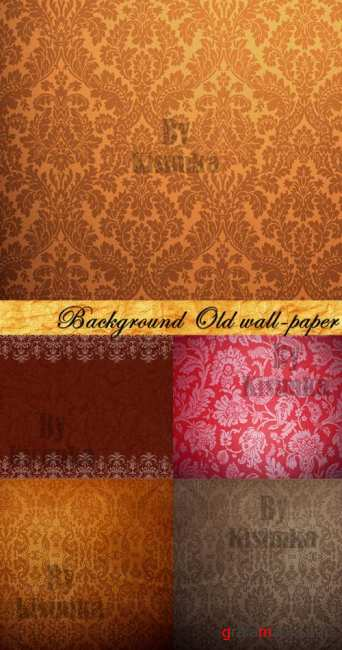 Stock Photo: Background Old wall-paper