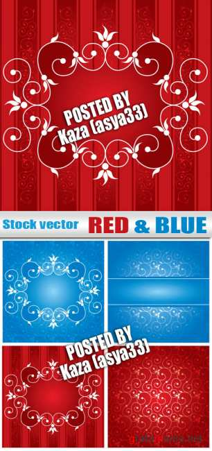 Red & blue backgrounds