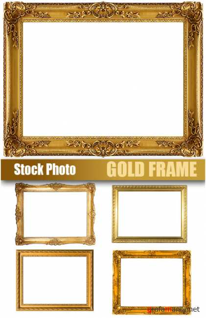 UHQ Stock Photo - Gold Frame