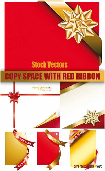 Stock Vectors - Copy space with red ribbon