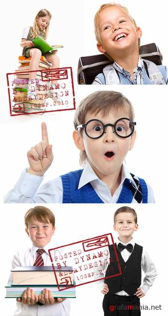 Stock Photo - Education or study children, isolated