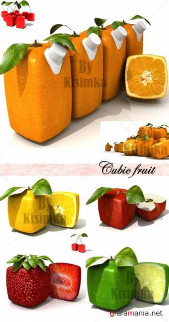 Stock Photo: Cubic fruit