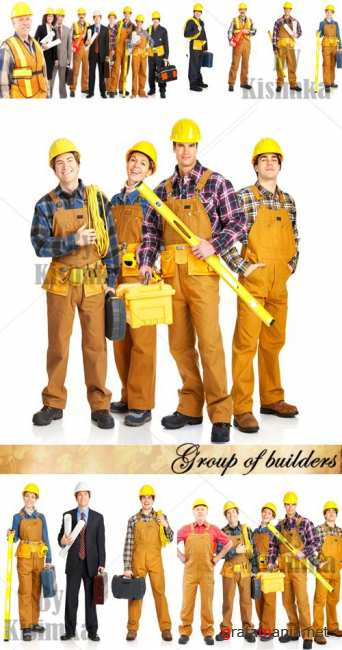 Stock Photo: Group of builders