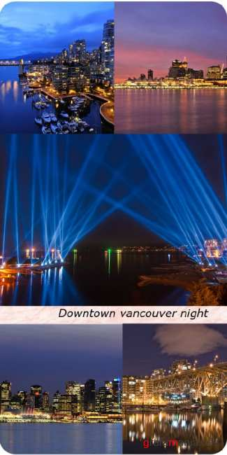 Stock Photo:  Downtown_vancouver_night