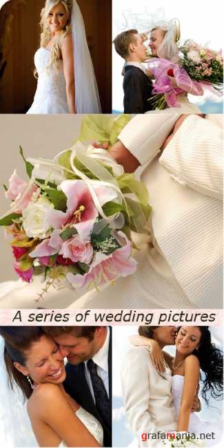 Stock Photo: A series of wedding pictures