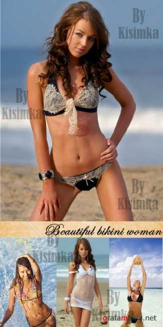 Stock Photo: Beautiful bikini woman