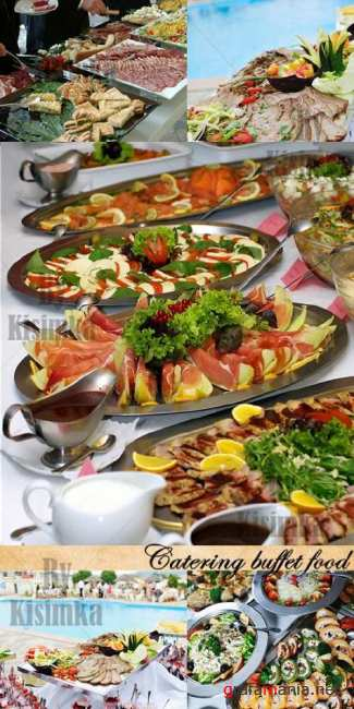 Stock Photo: Catering buffet food