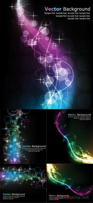 Colorful Abstract Vector Backgrounds 33