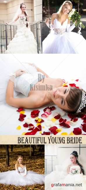 Stock Photo: Beautiful young bride