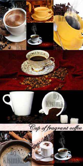 Stock Photo: Cup of fragrant coffee