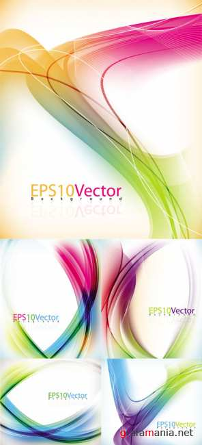 Colorful Abstract Vector Backgrounds 34