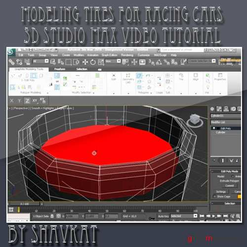 3D Studio Max tutorial modeling Tires for racing cars