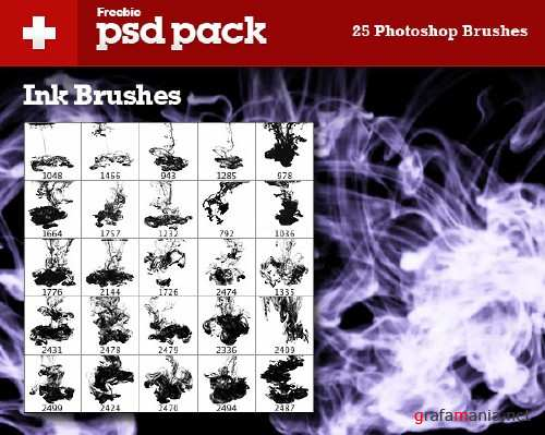 25 Ink Brushes