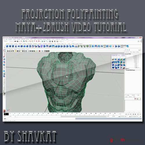 Zbrush and Maya - projection polypainting