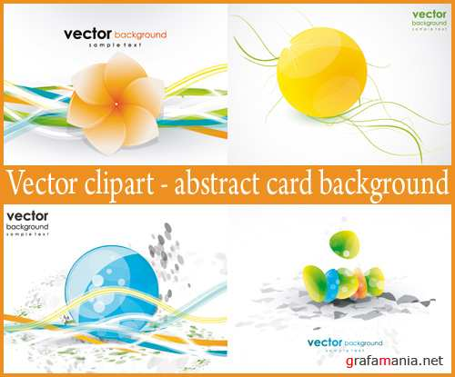 Vector clipart - abstract card background
