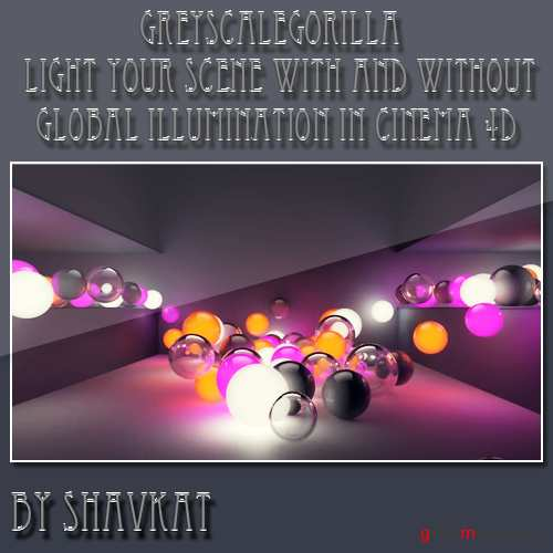 Luminance Textures In Cinema 4D Without Global Illumination: Light Caves