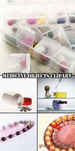 Medicine objects clipart