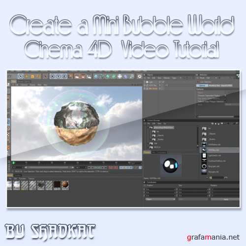 Create a Mini Bubble World in C4D