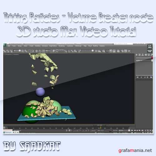 Thinking Particles - Volume Breaker node in 3Ds MAx