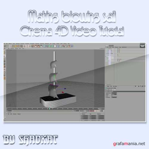Making blowing sail in Cinema 4d