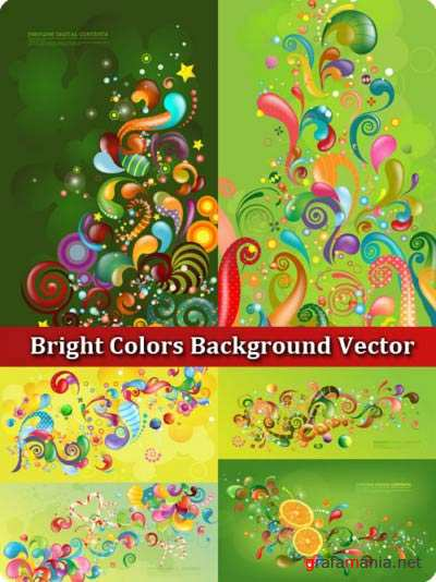 Bright Colors Background Vector