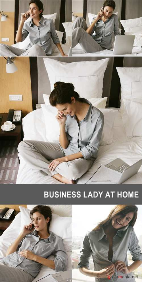 Business lady at home