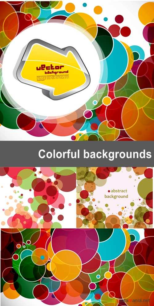 Colorful rounded backgrounds