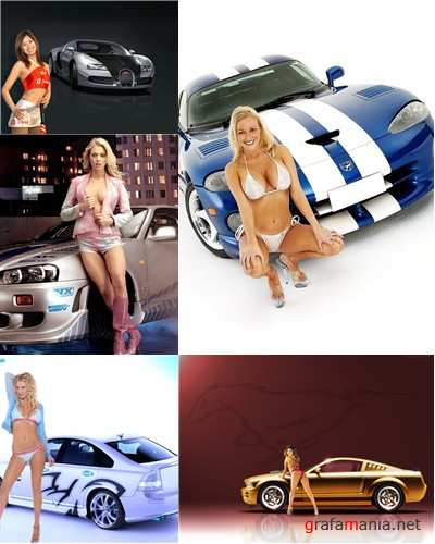 Beautiful Girls and Cars Wallpapers Pack 1