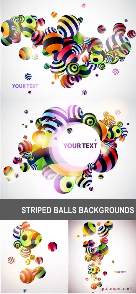 Striped Balls Backgrounds