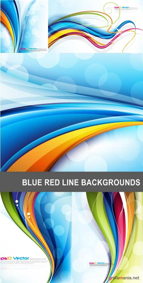 Blue red line backgrounds