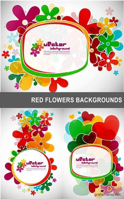 Red flowers backgrounds
