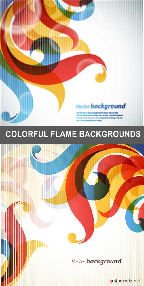 COLORFUL FLAME BACKGROUNDS