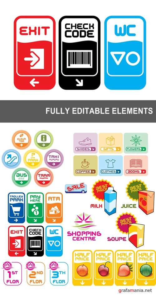 Fully editable elements