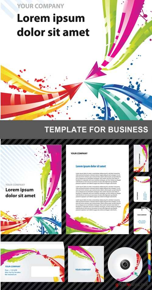 Template for business artwork