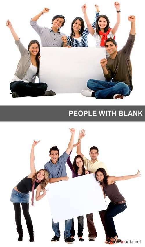 People with blank