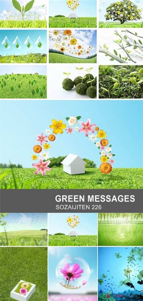 Sozaijiten 226 Green Messages
