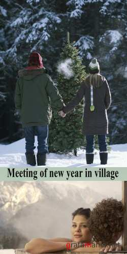 Stock Photo: Meeting of new year in village