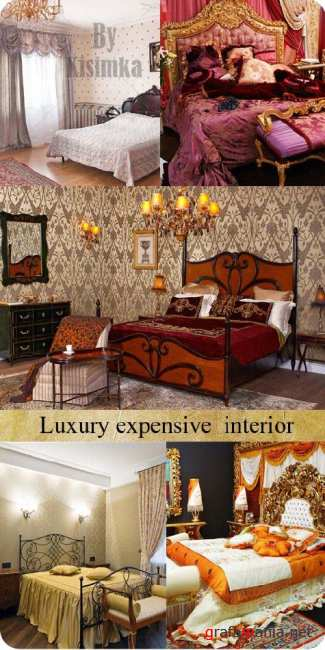 Stock Photo:Classic luxury expensive bedroom interior