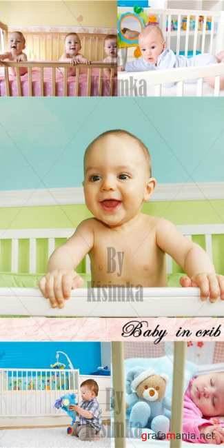 Stock Photo: Baby  in crib