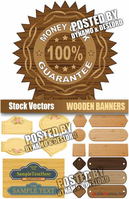 Stock Vectors - Wooden banners