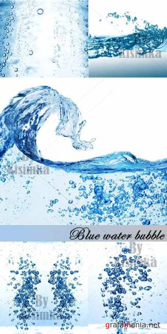 Stock Photo: Blue water bubble