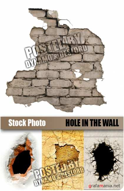 UHQ Stock Photo - Hole in the wall