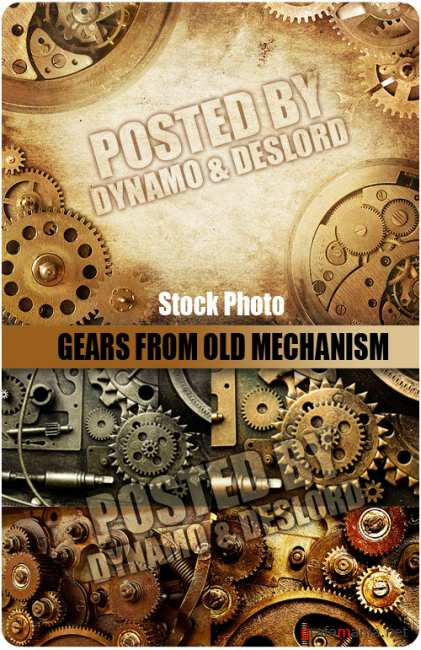 UHQ Stock Photo - Gears from old mechanism
