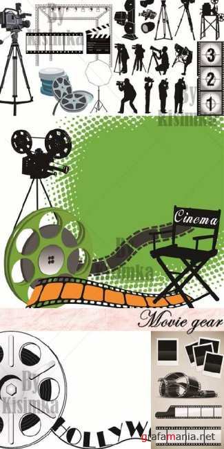 Stock vector: Movie gear