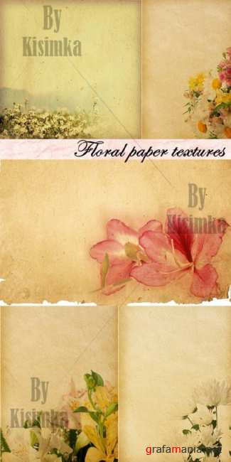 Stock Photo: Floral paper textures